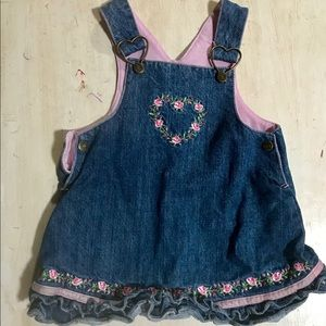 Girly denim dress. Size 12mos. Children's place